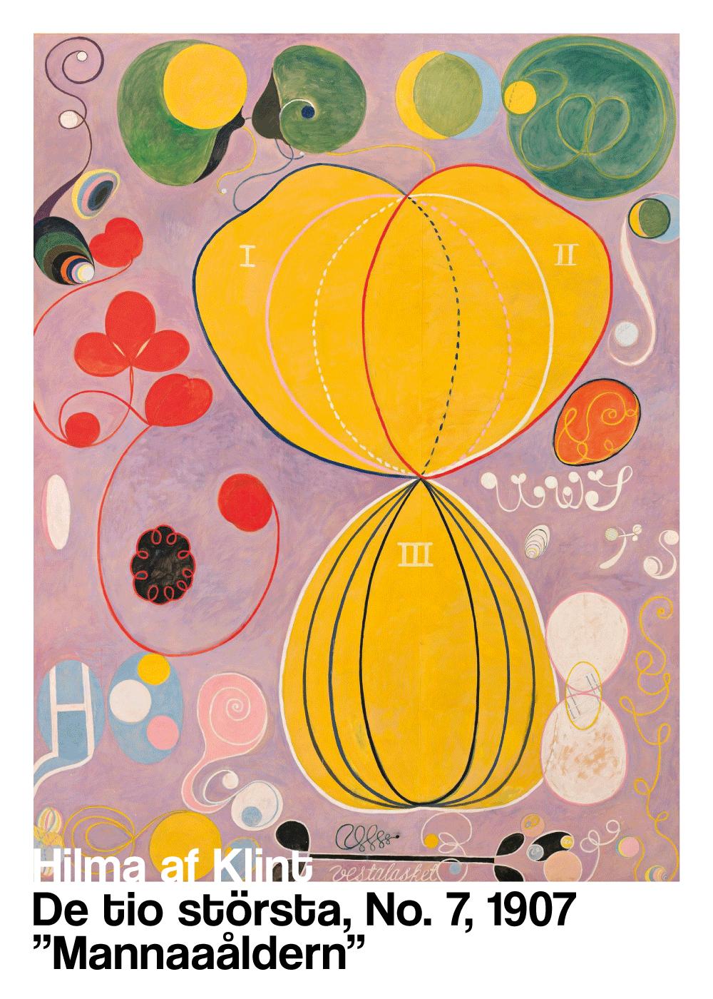 Billede af Mannaåldern - Hilma af Klint kunstplakat