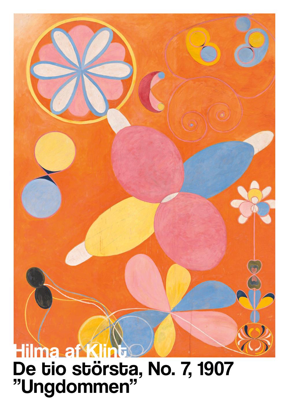 Billede af Ungdommen - Hilma af Klint kunstplakat