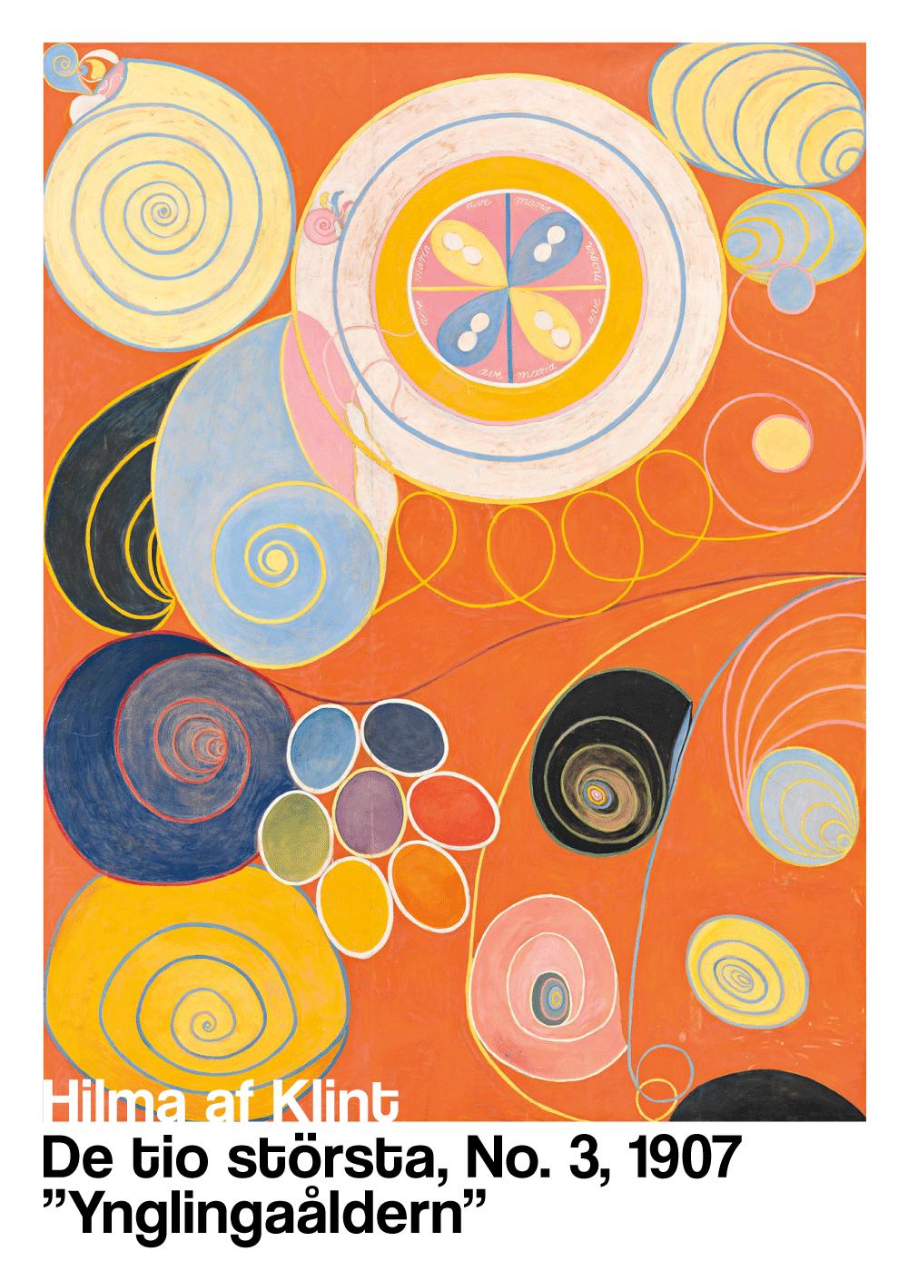 Billede af Ynglingaåldern - Hilma af Klint kunstplakat
