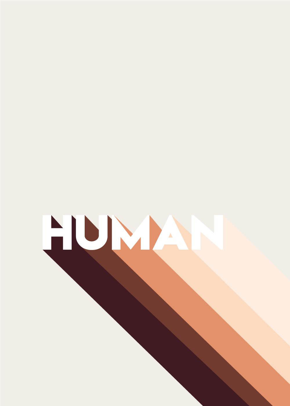 Billede af Human - plakat