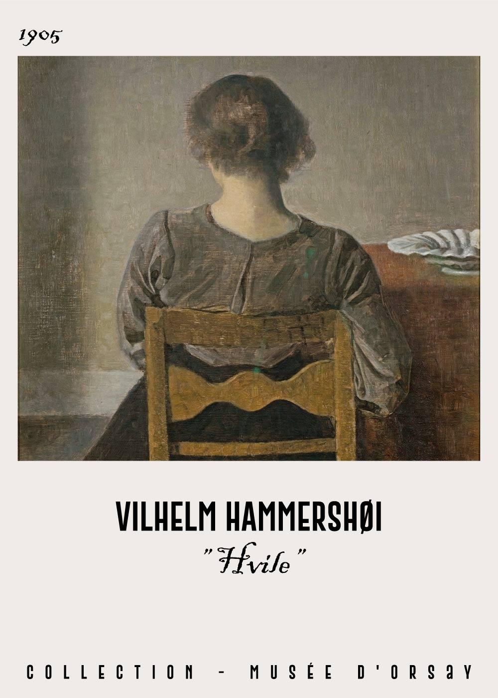 Billede af Hvile - Vilhelm Hammershøi Kunstplakat