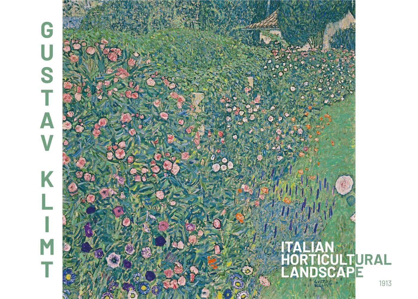 Billede af Italian horticultural landscape - Gustav Klimt
