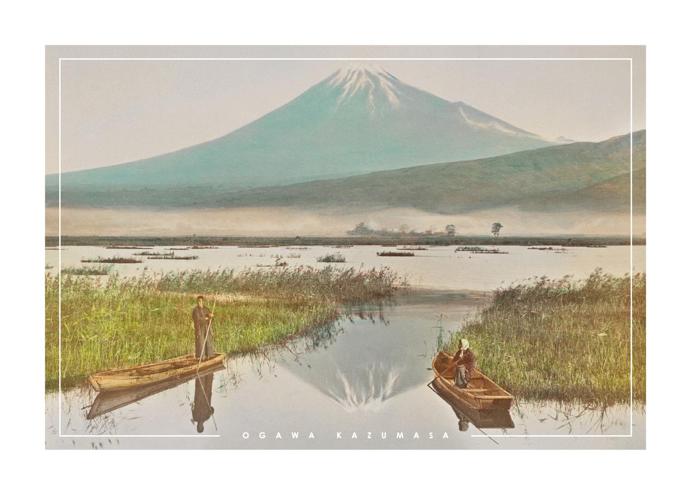 Billede af Mount Fuji - Japansk fotokunst plakat
