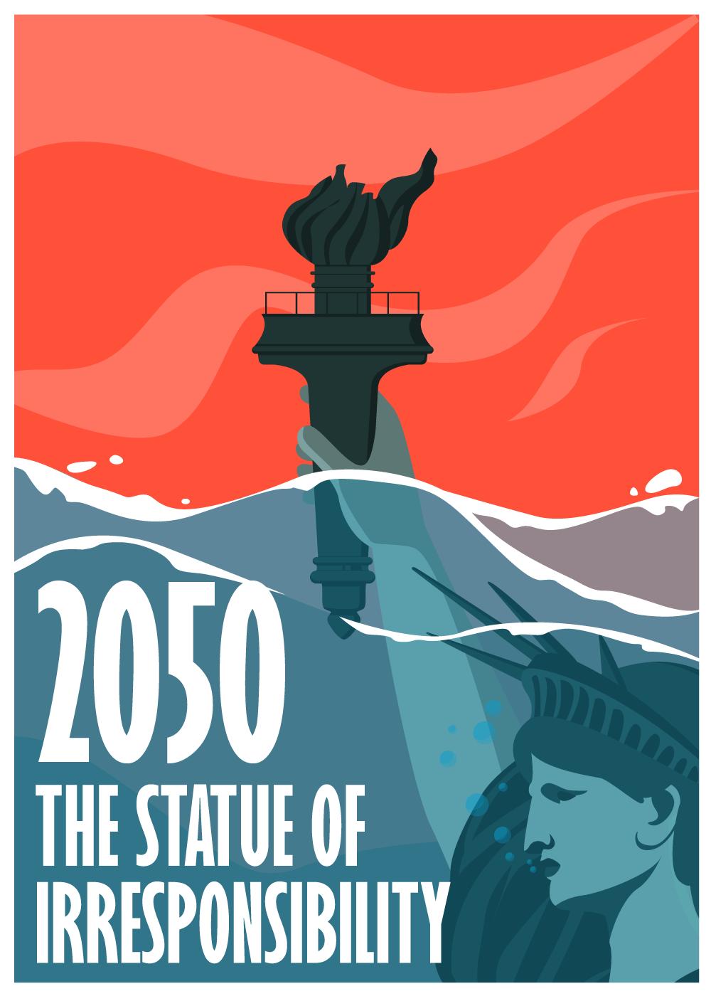 Billede af STATUE 2050 - klimaplakat