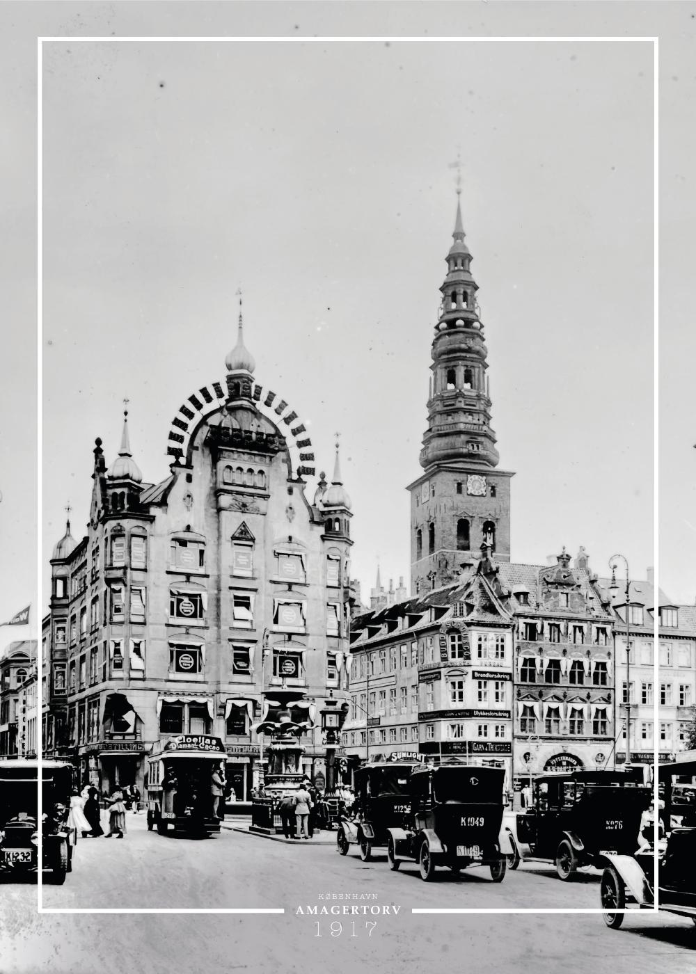 Billede af Amagertorv - Gamle billeder af København plakat