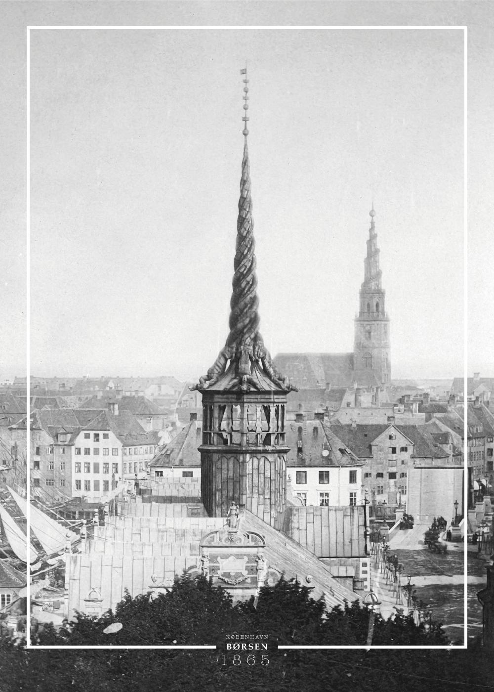 Billede af Børsen - Gamle billeder af København plakat