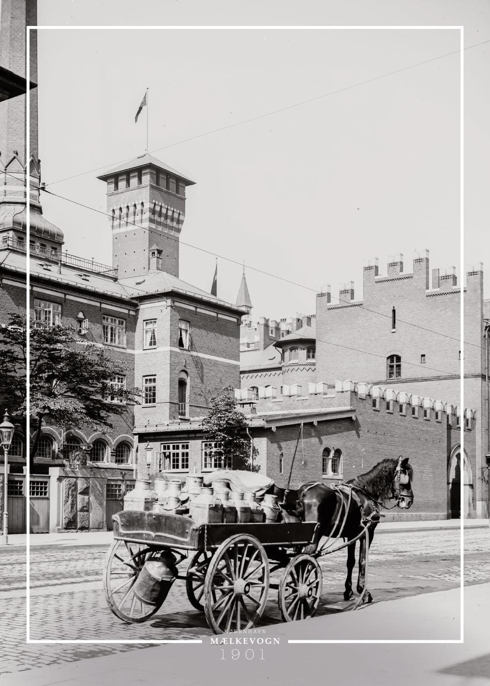 Billede af Mælkevogn - Gamle billeder af København plakat