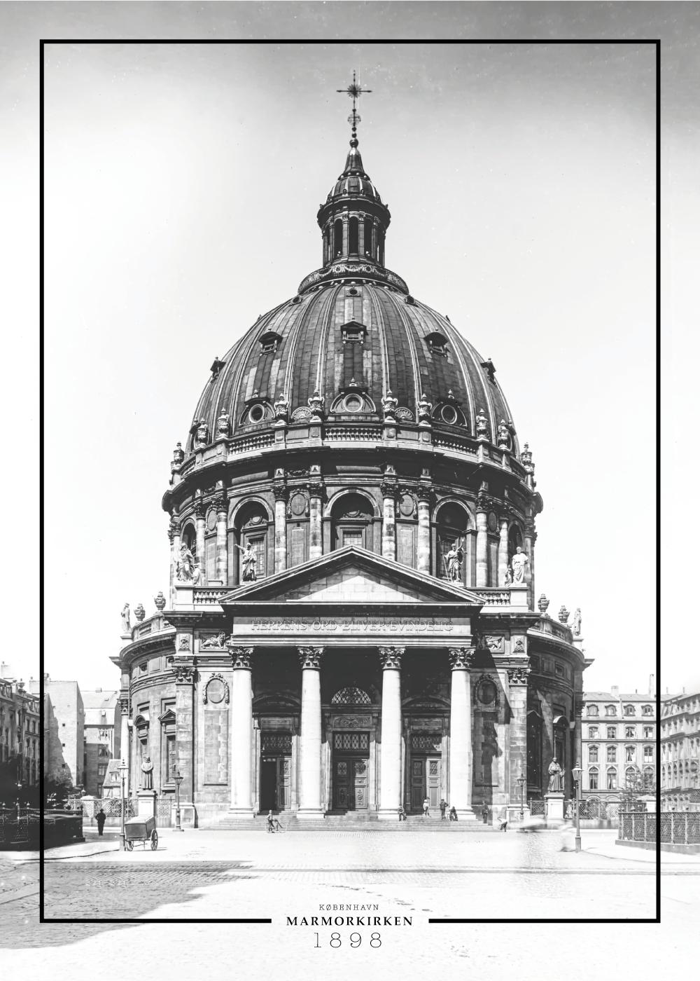 Marmorkirken - Gamle billeder af København plakat