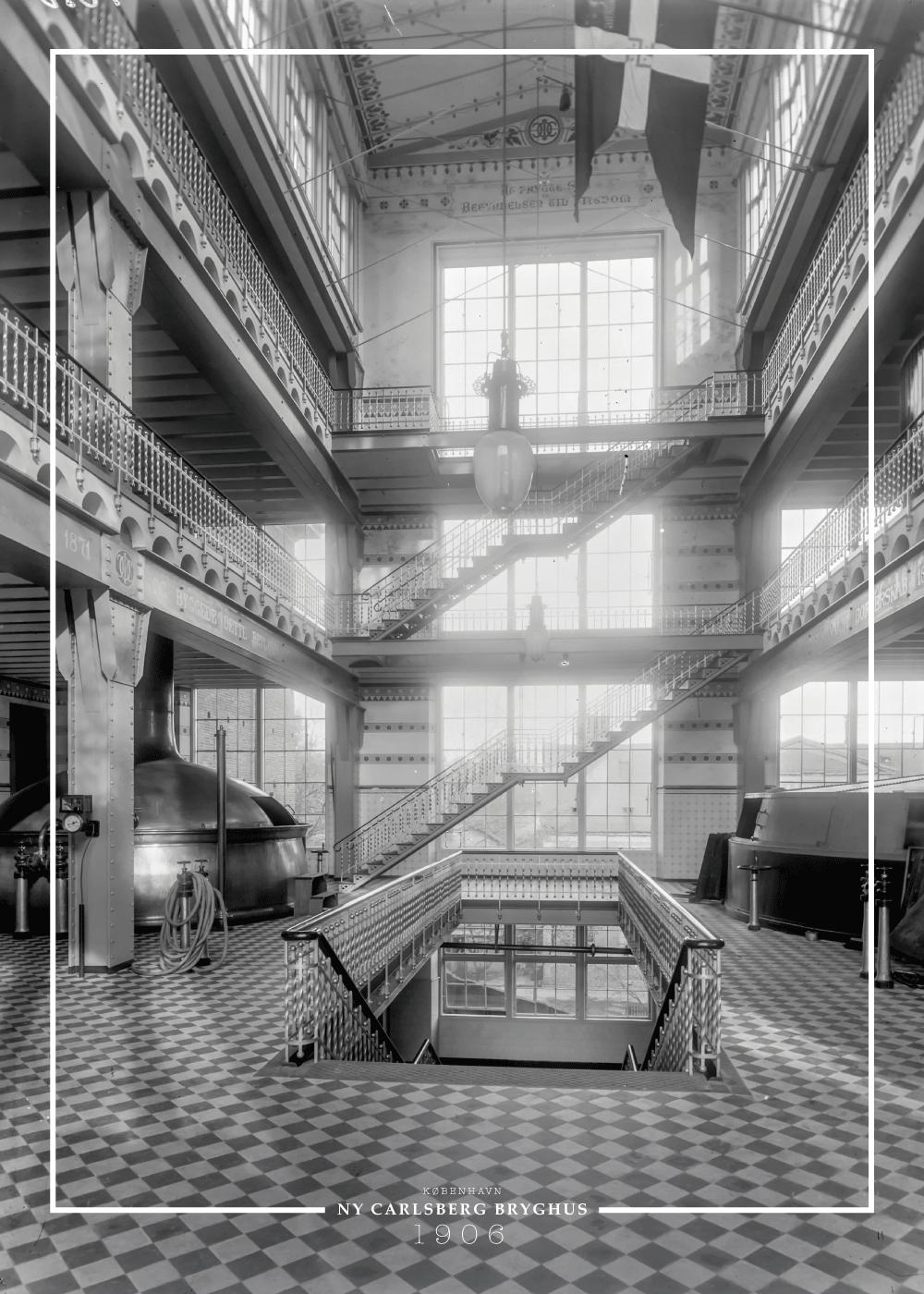 Billede af Carlsberg bryghus - Gamle billeder af København plakat