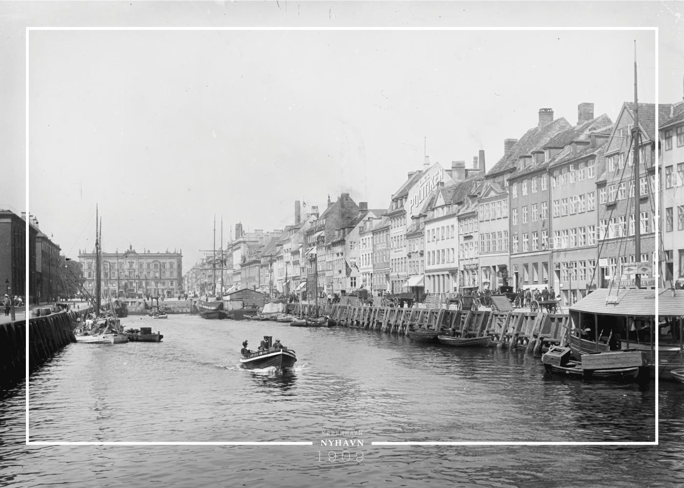 Køb Nyhavn & d'Angleterre – Gamle billeder af København plakat