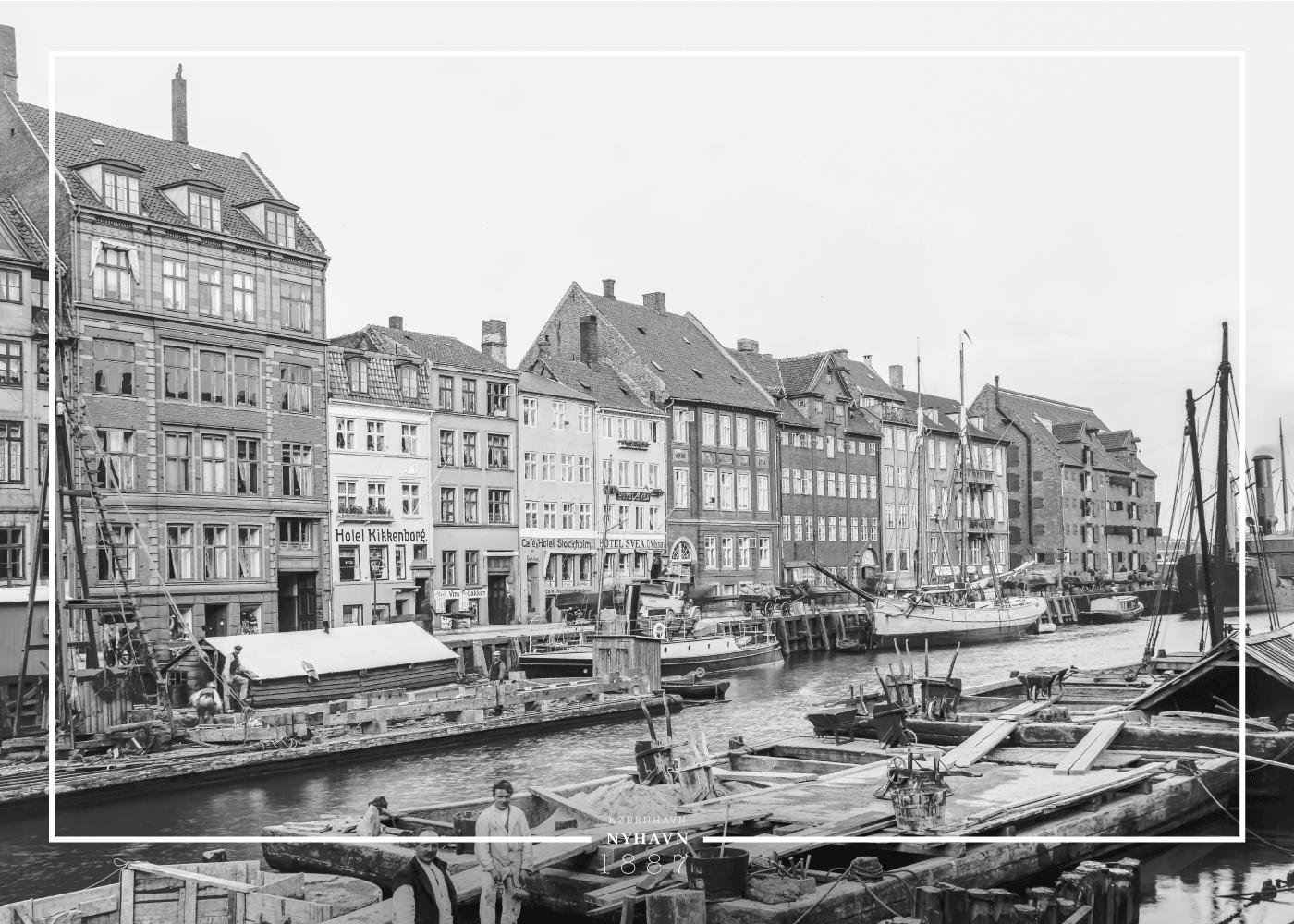 Billede af Nyhavn - Gamle billeder af København plakat
