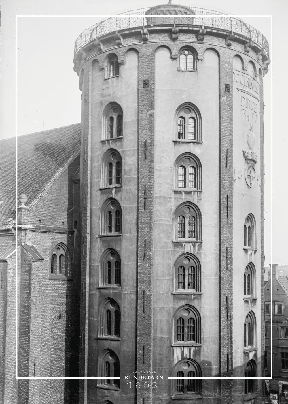 Billede af Rundetårn - Gamle billeder af København plakat