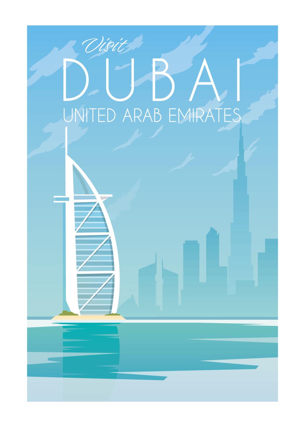 Visit Dubai - rejse plakat
