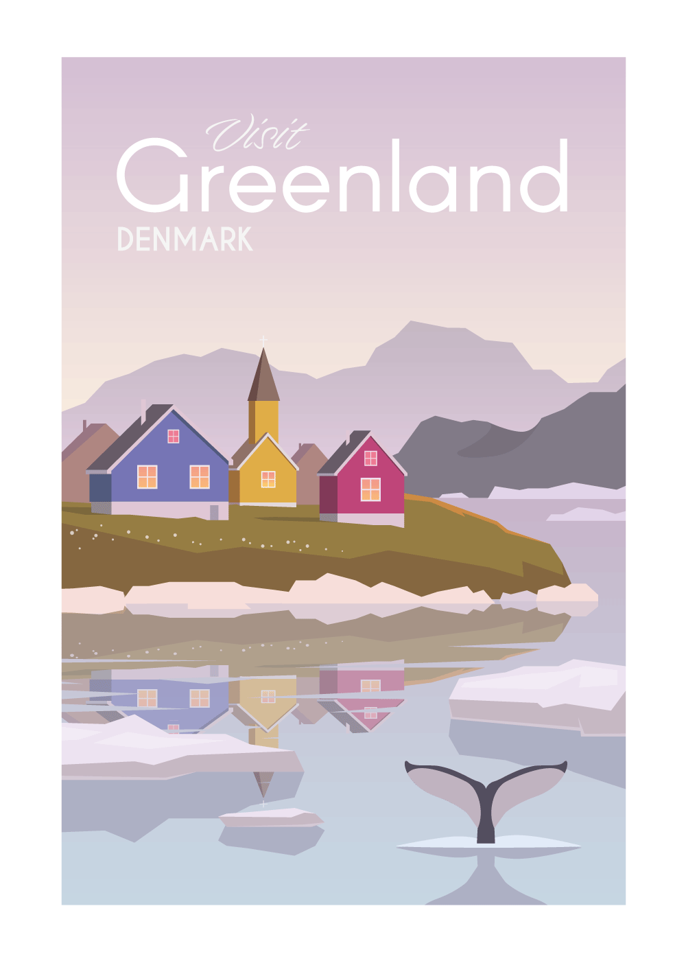Visit Greenland - rejse plakat