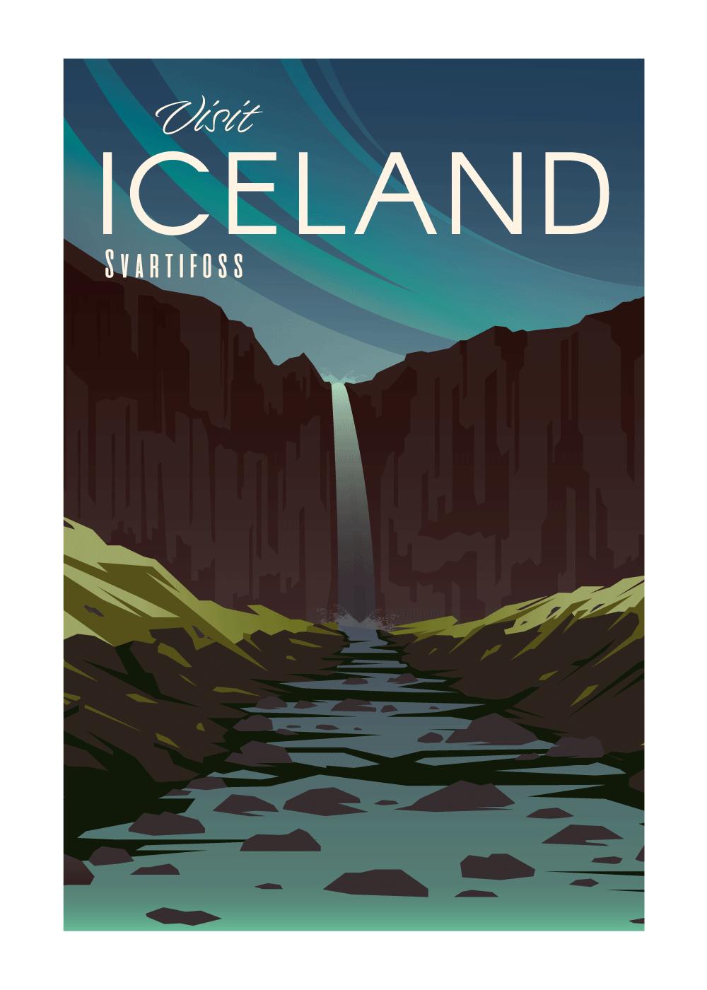 Visit Iceland - rejse plakat
