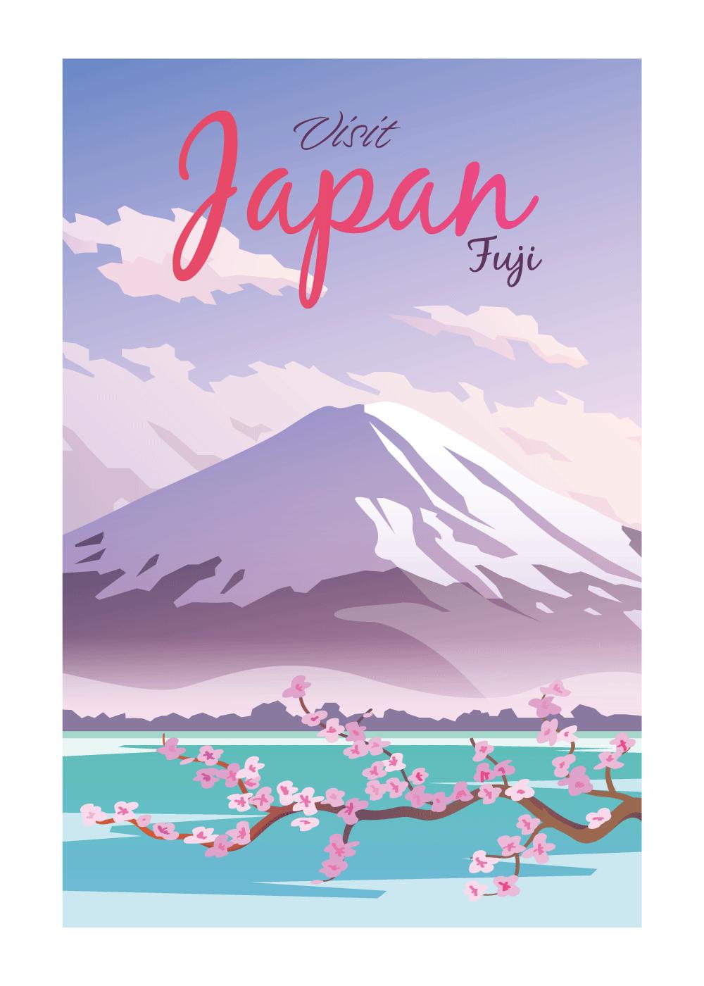 Visit Japan - rejse plakat