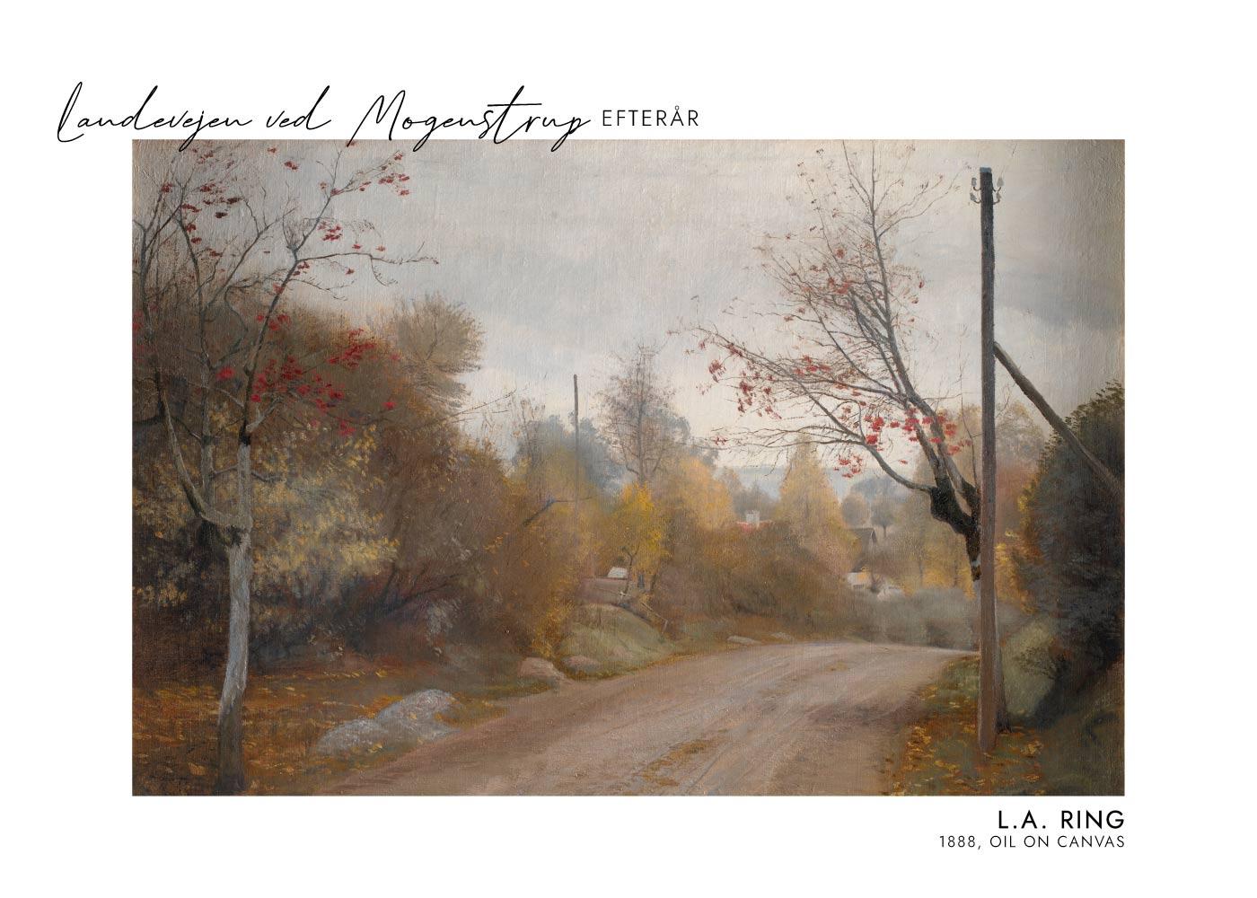 Billede af Landevejen ved Mogenstrup - L.A. Ring