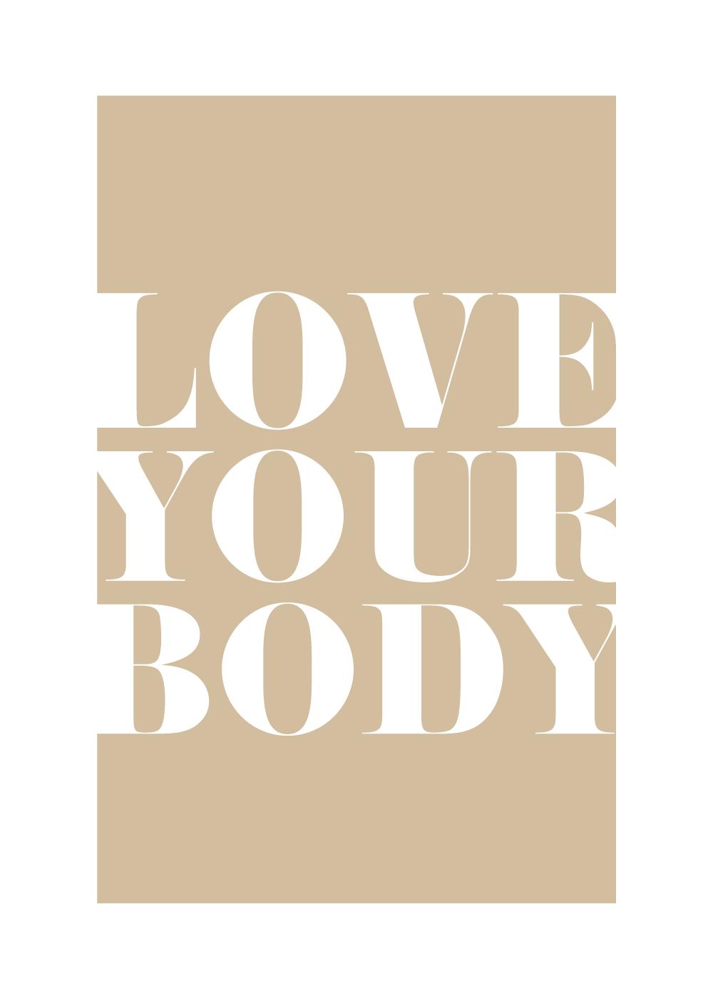 Billede af Love your body - Body positivity plakat