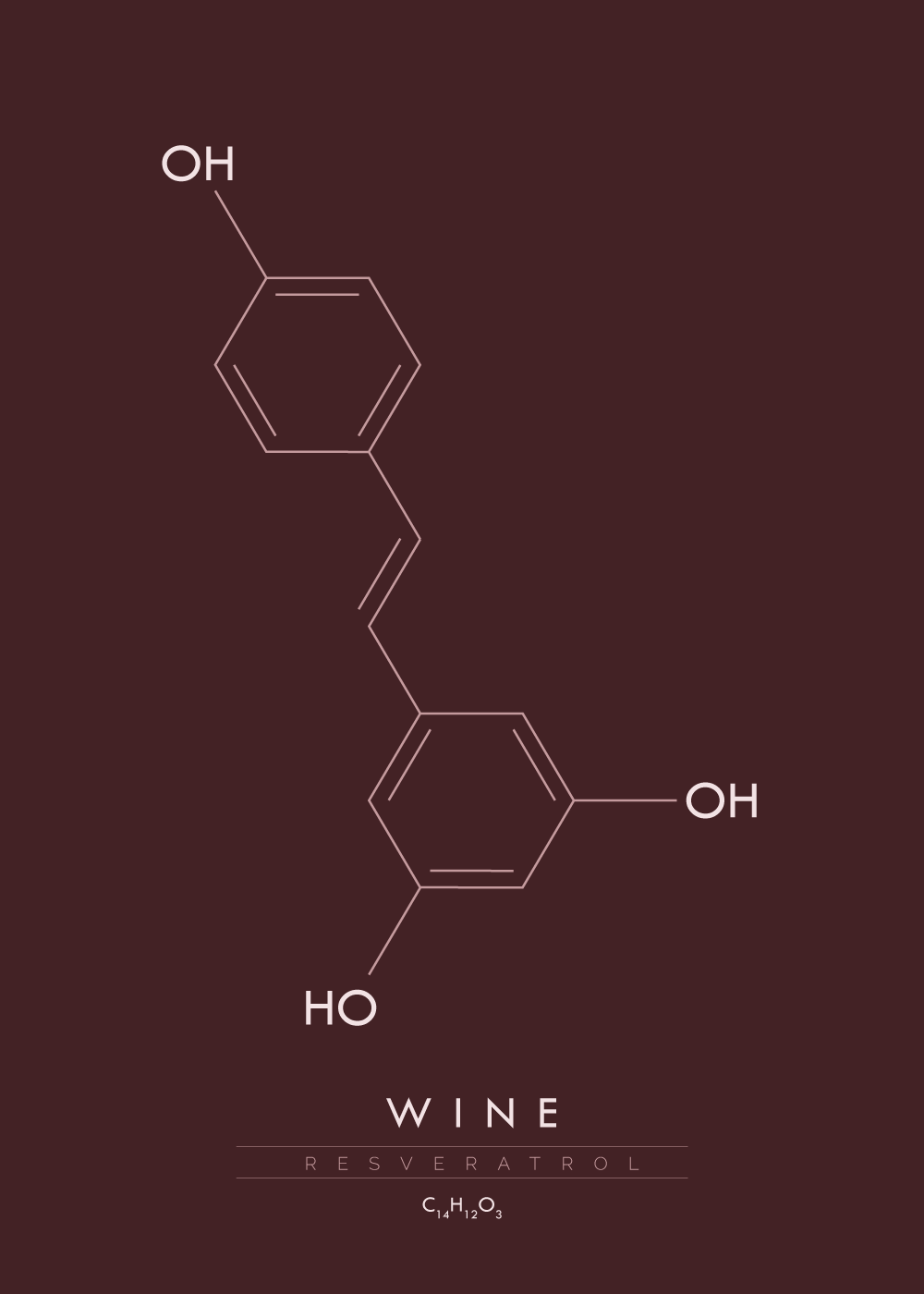 Billede af Wine - Molekyle plakat