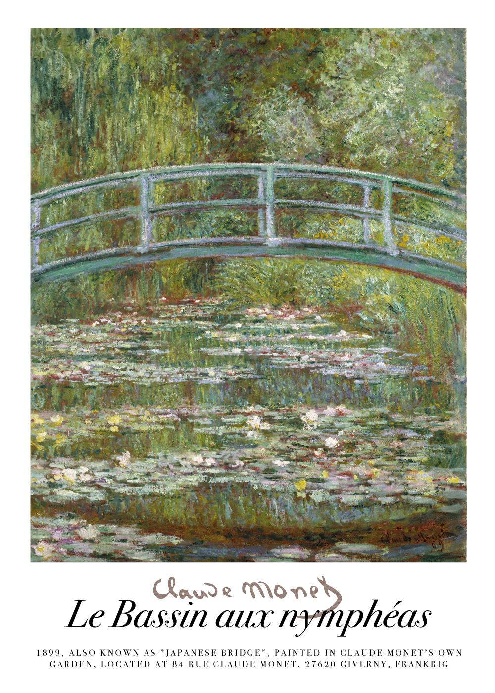 Japanese Bridge - Claude Monet kunstplakat