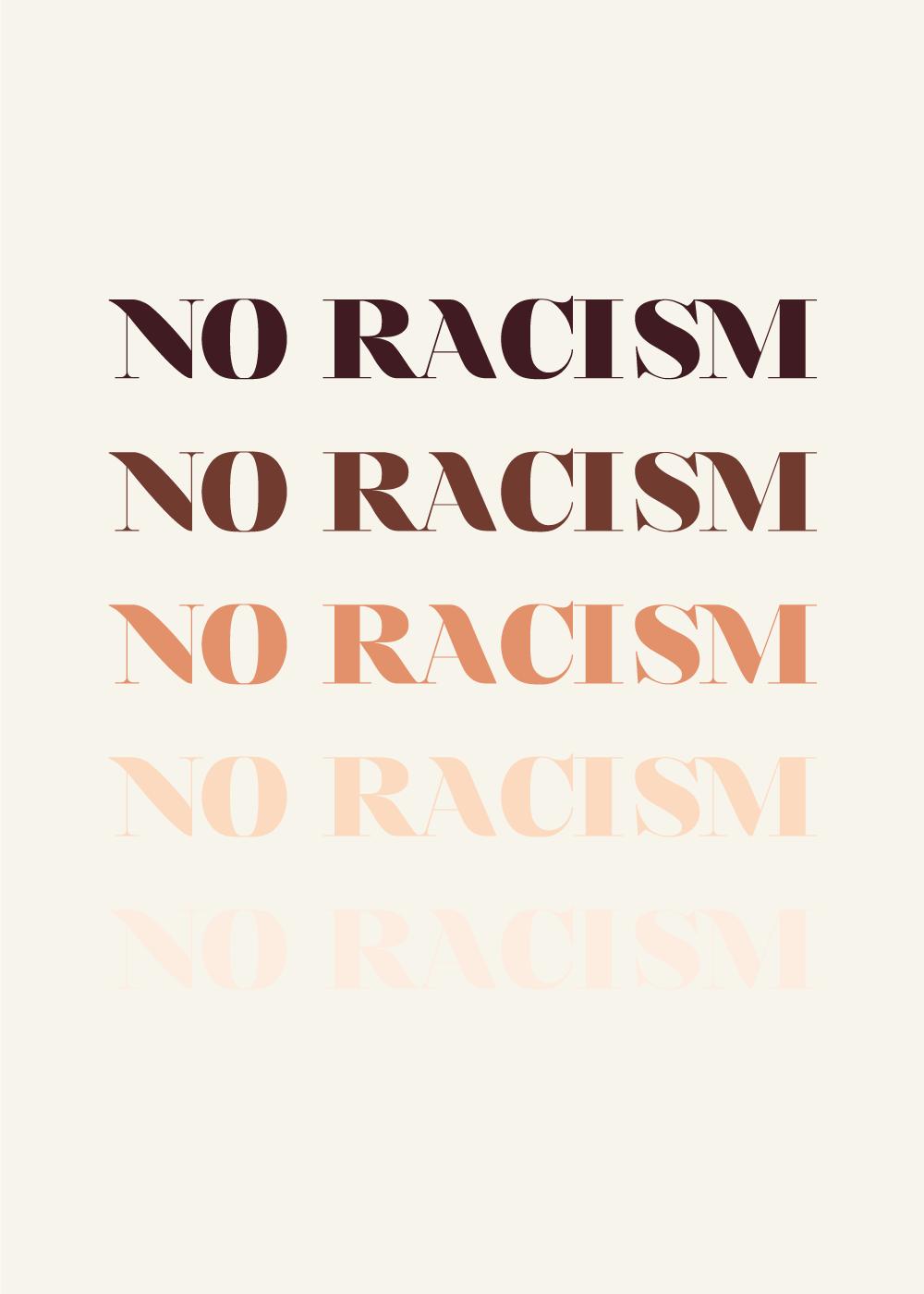 No racism - plakater med alle hudfarver