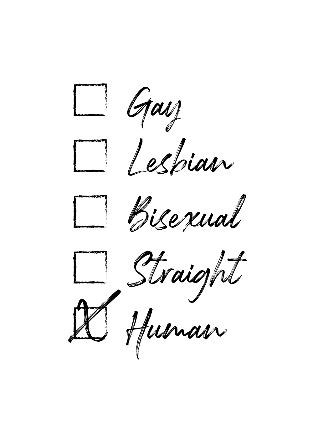 Billede af I'm human - LGBT plakat