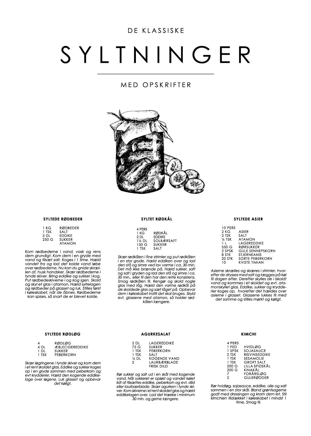 Billede af Sylte guide plakat - De klassiske opskrifter