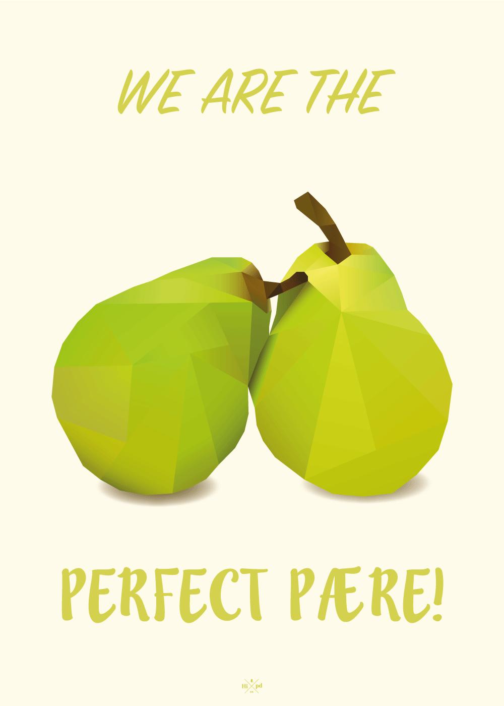 The perfect pære - plakat