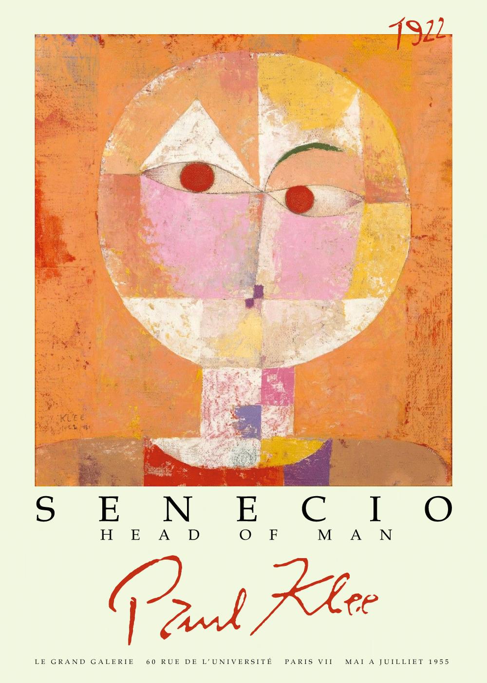 Billede af Senecio - Paul Klee kunstplakat
