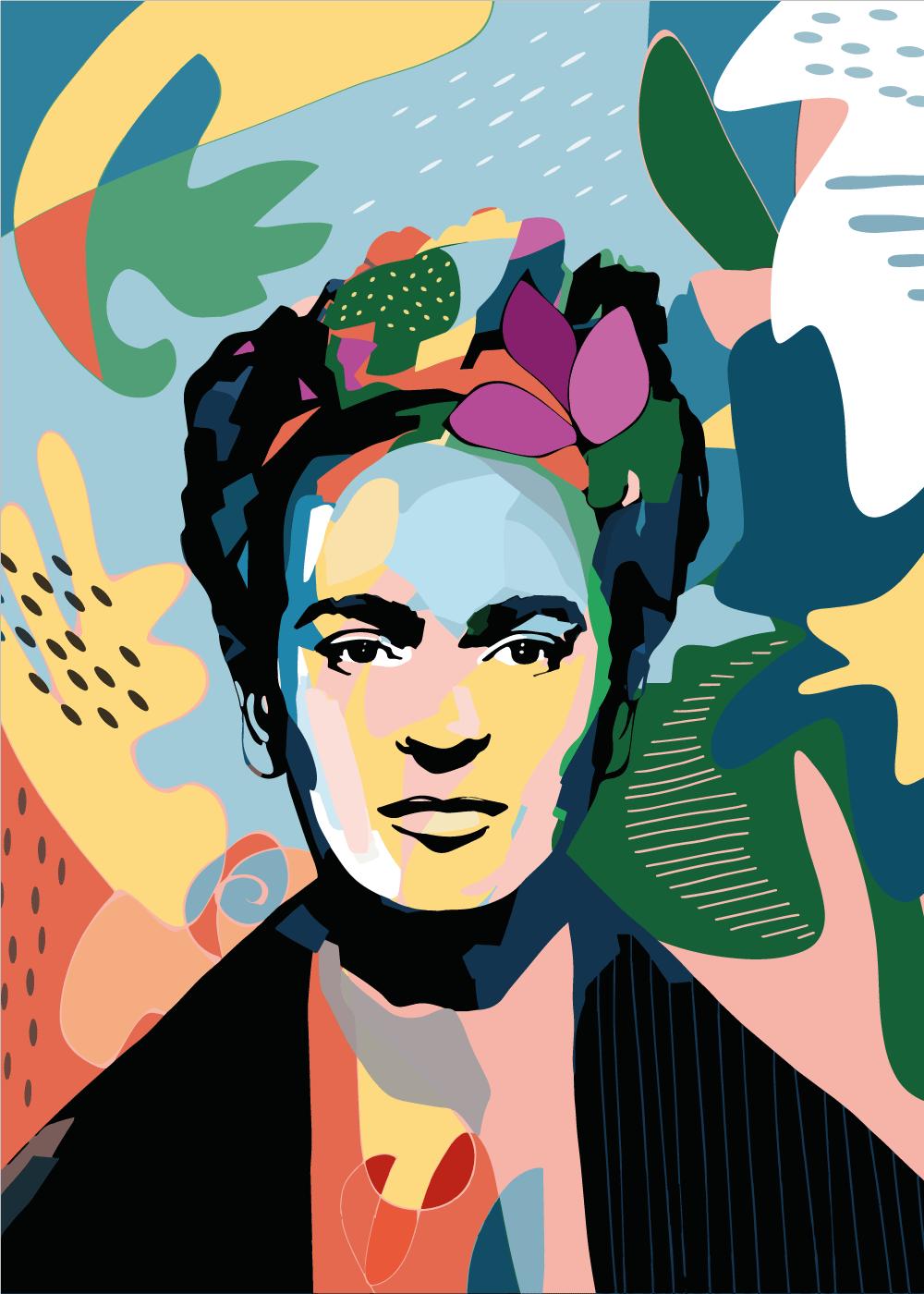 Billede af Powerful Frida - Frida Kahlo inspireret plakat