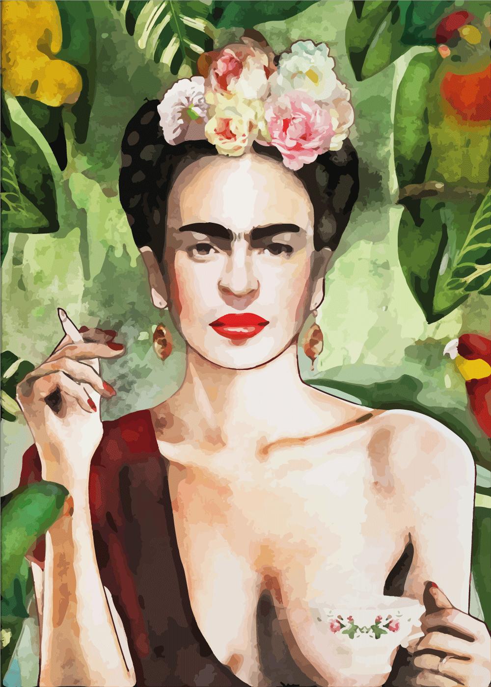 Billede af Liberated Frida - Frida Kahlo inspireret plakat
