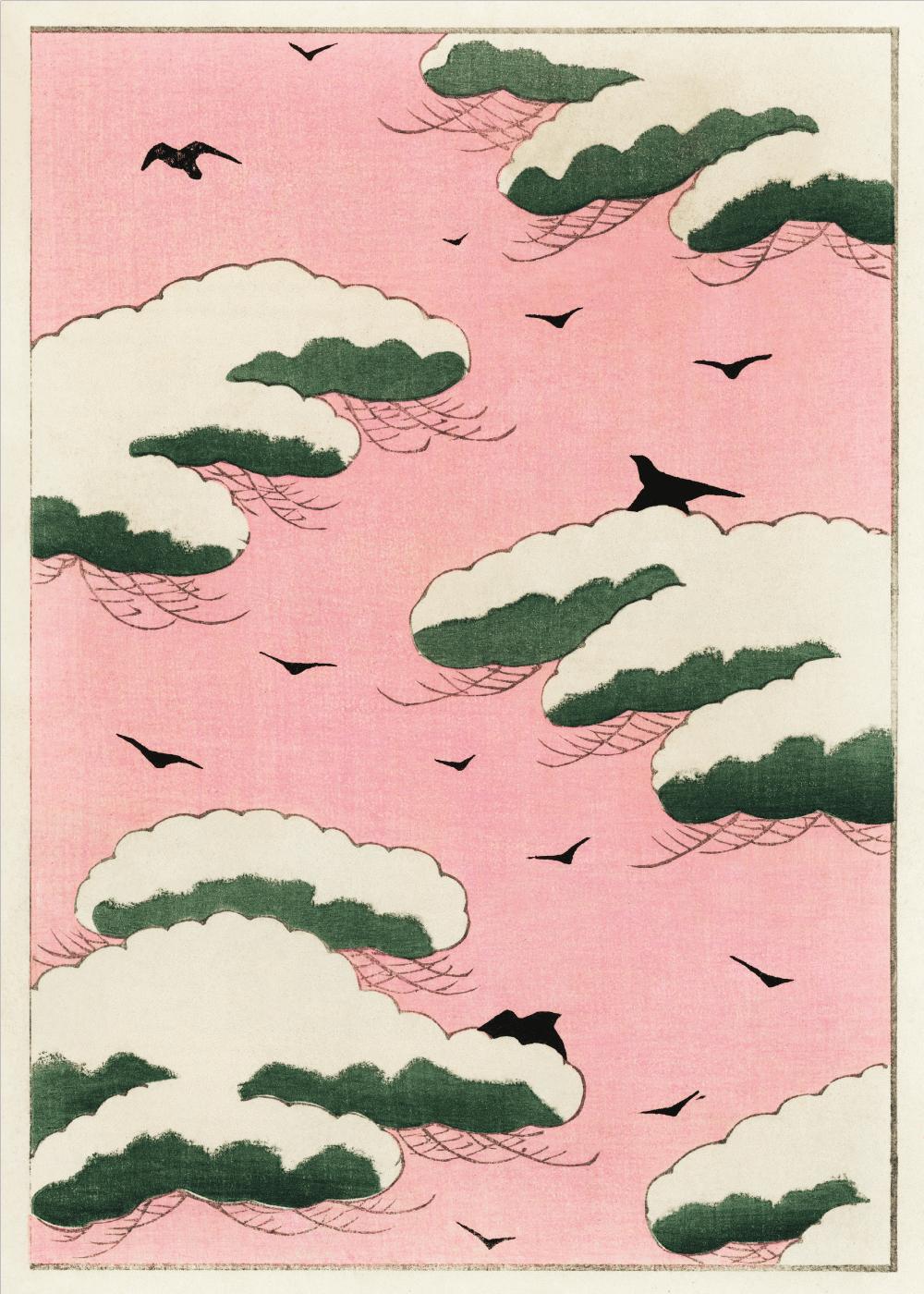 Billede af Pink sky - Japansk kunstplakat