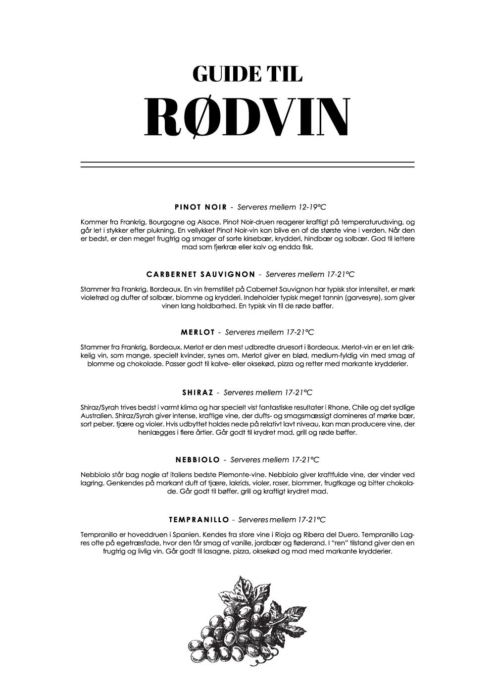 Billede af Rødvin - Wine guide plakat