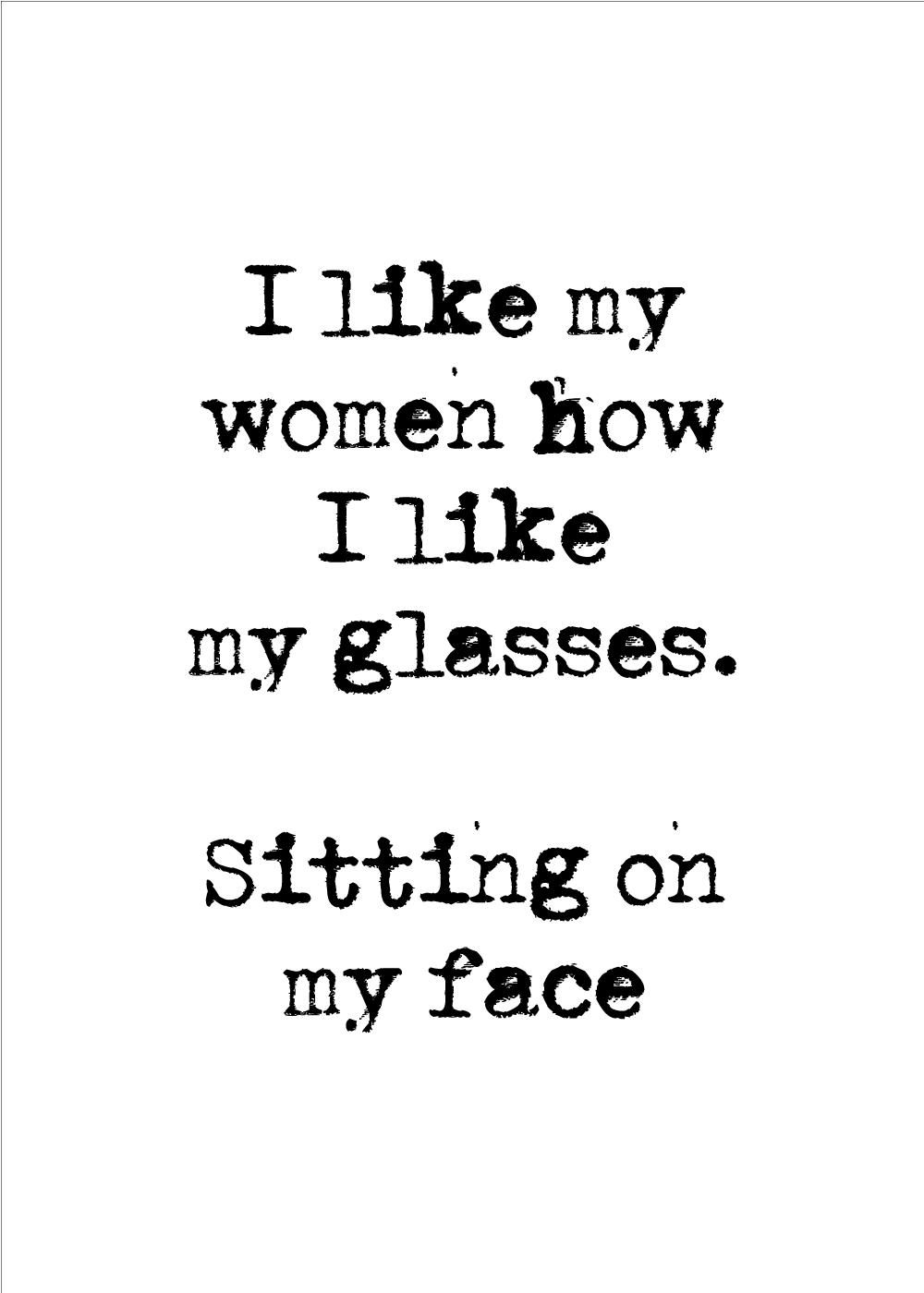 Billede af I like my women - LGBT plakat