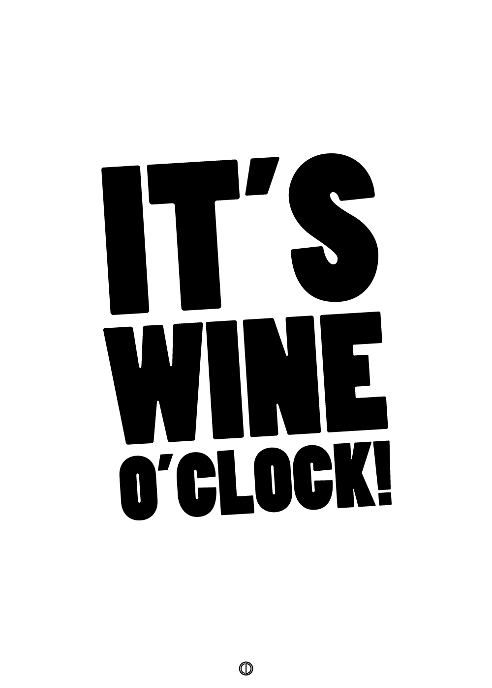 Billede af It's wine o'clock