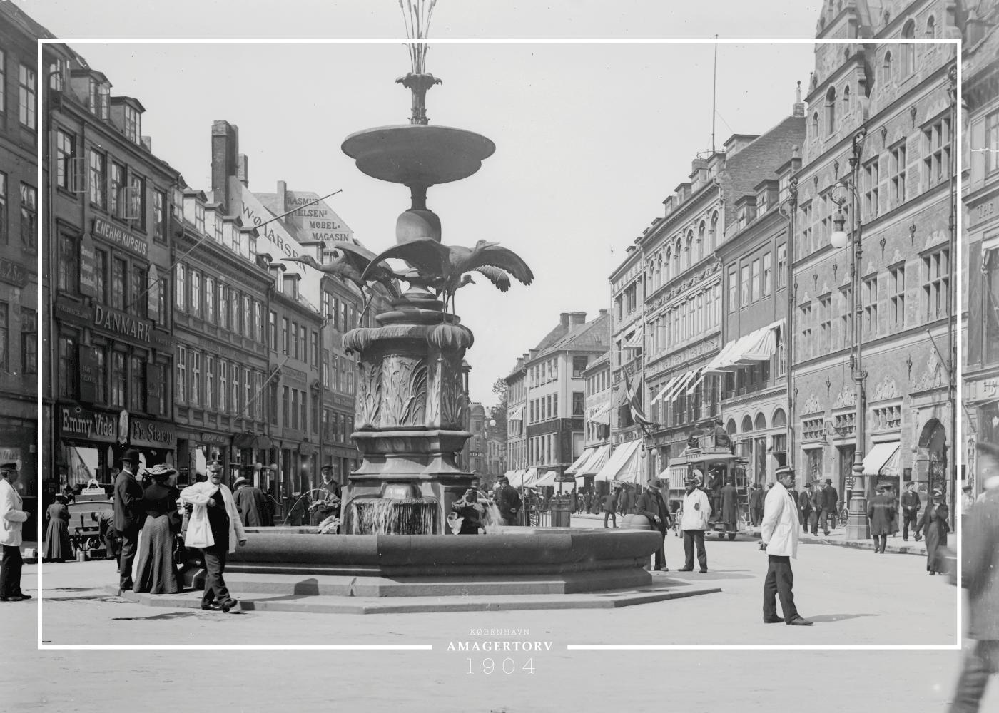 Billede af Storkespringvandet - Gamle billeder af København plakat