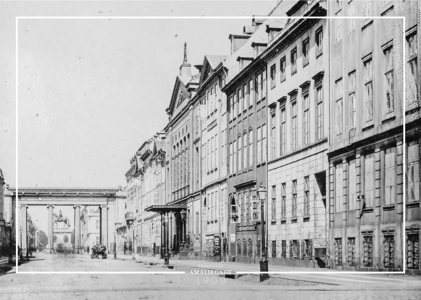 Billede af Amaliegade - København plakat - Gamle billeder