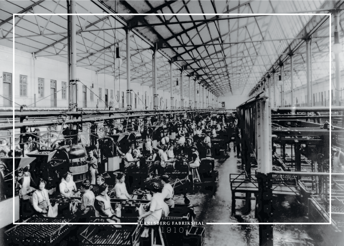 Billede af Carlsberg fabrikshal - Gamle billeder af København plakat