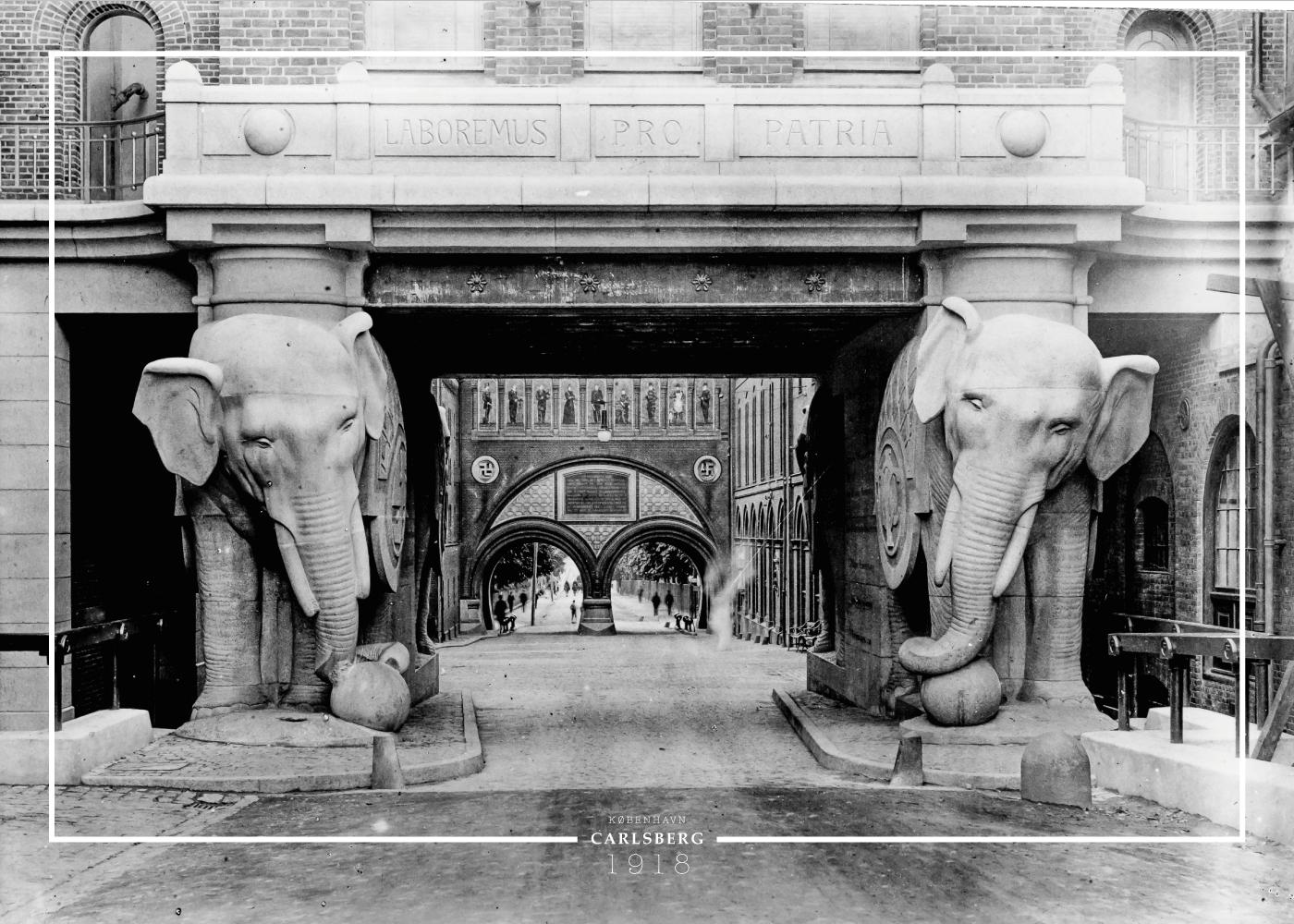 Carlsberg porten - Gamle billeder af København plakat