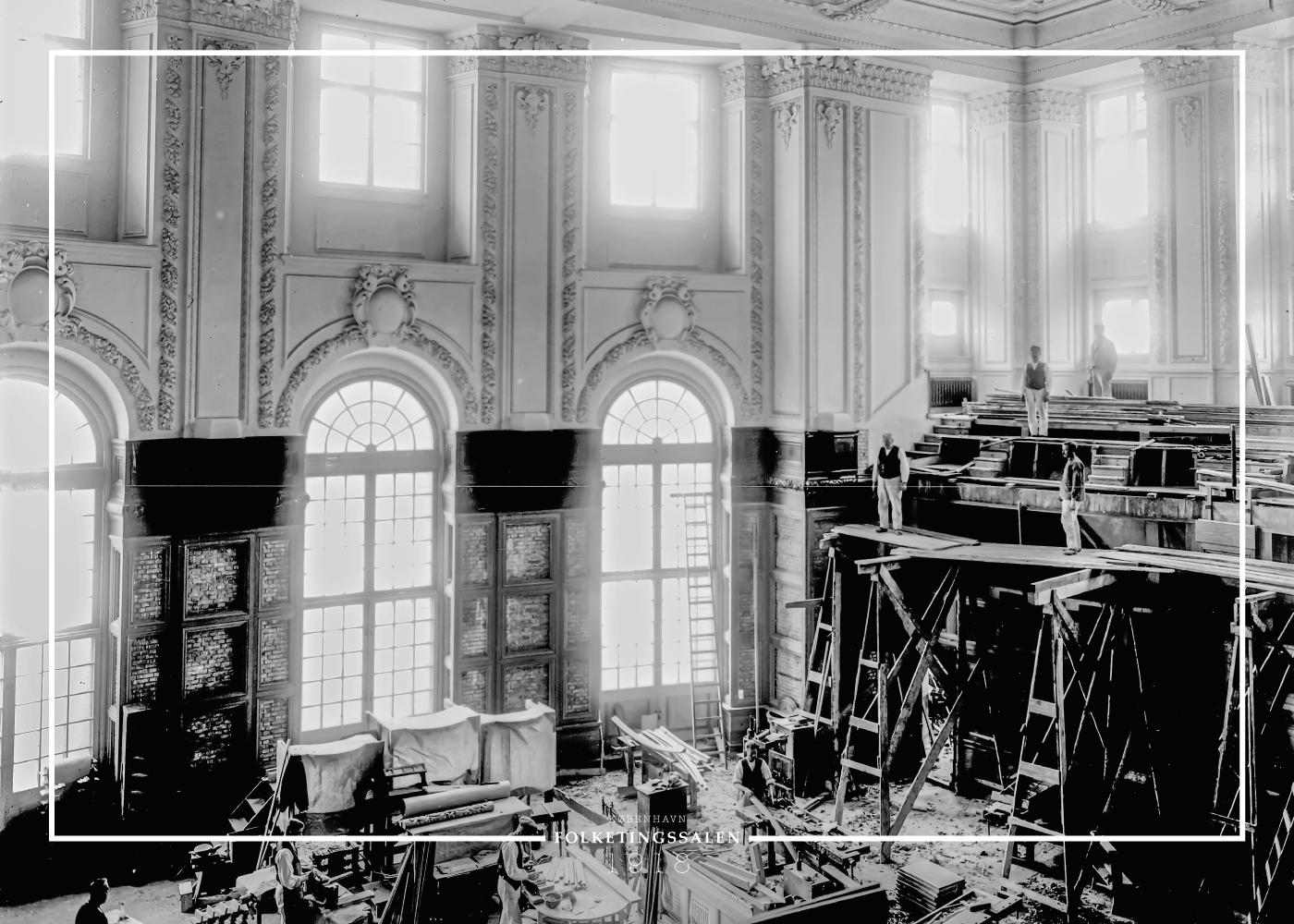 Billede af Folketingssalen - Gamle billeder af København plakat