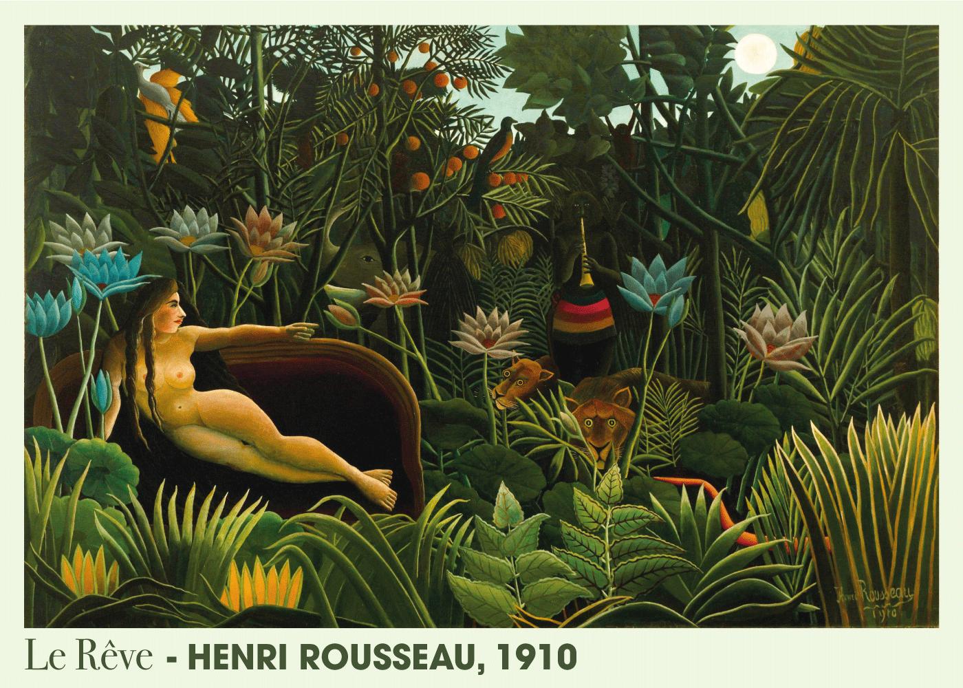 Billede af Le Rêve - Henri Rousseau kunstplakat