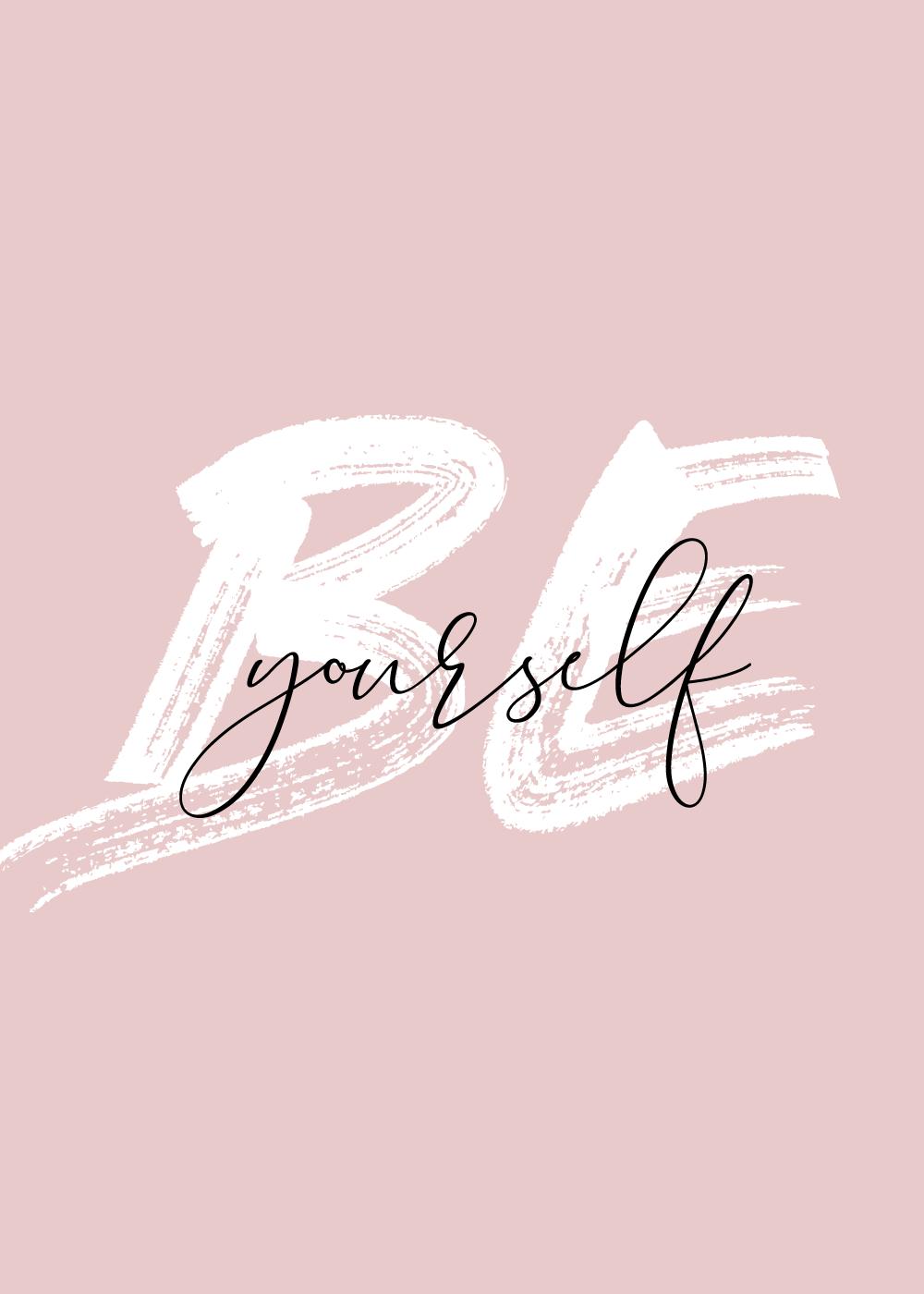 Billede af Be yourself - Body positivity plakat