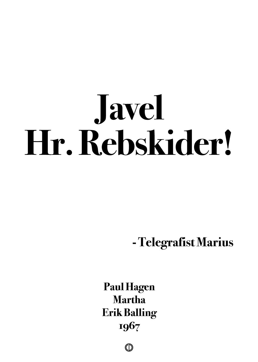 Køb Martha simpel plakat – Hr. Rebskider