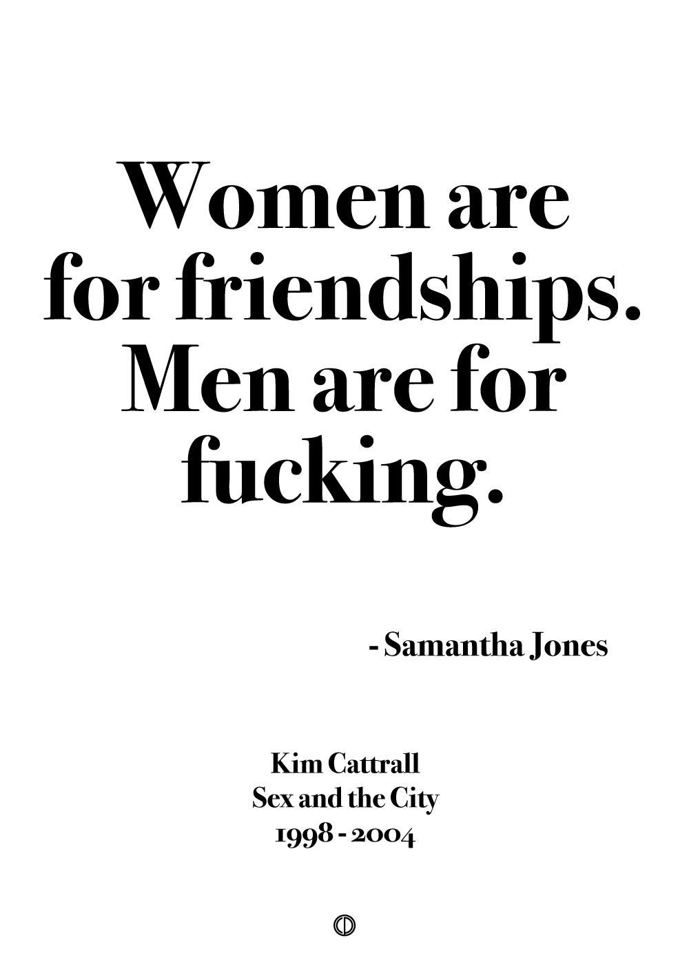 Billede af Women are for friendships