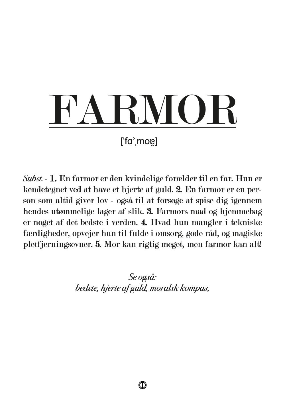 Billede af Farmor definition - plakat