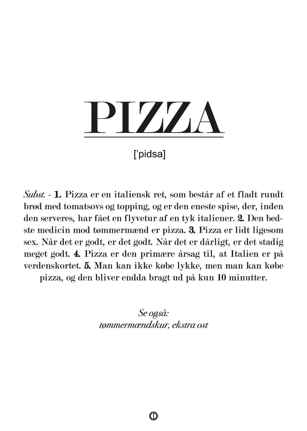 Billede af Pizza definition - plakat