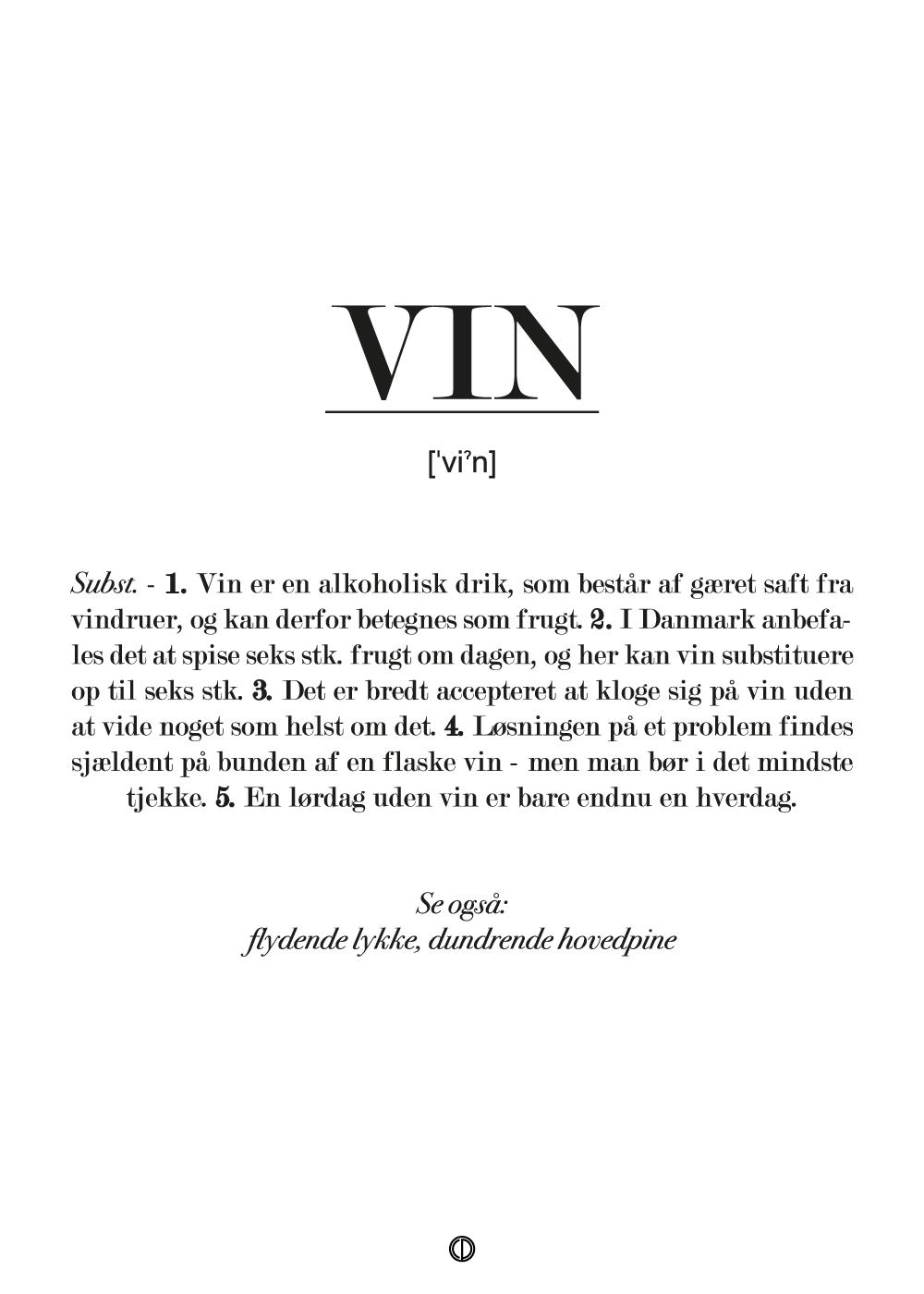 Vin definition - plakat