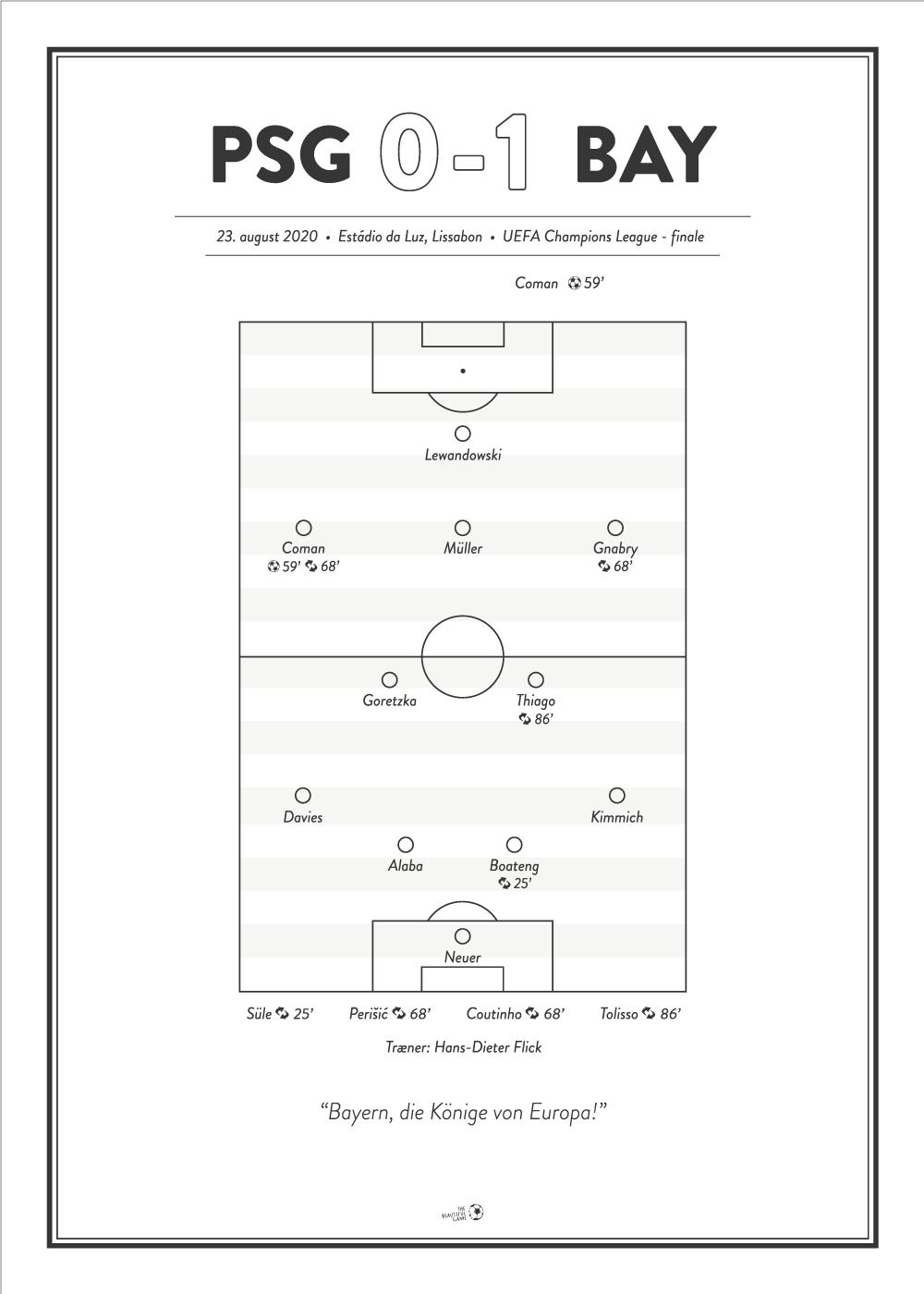 Billede af PSG - BAY 0-1 UEFA Champions League Finale plakat