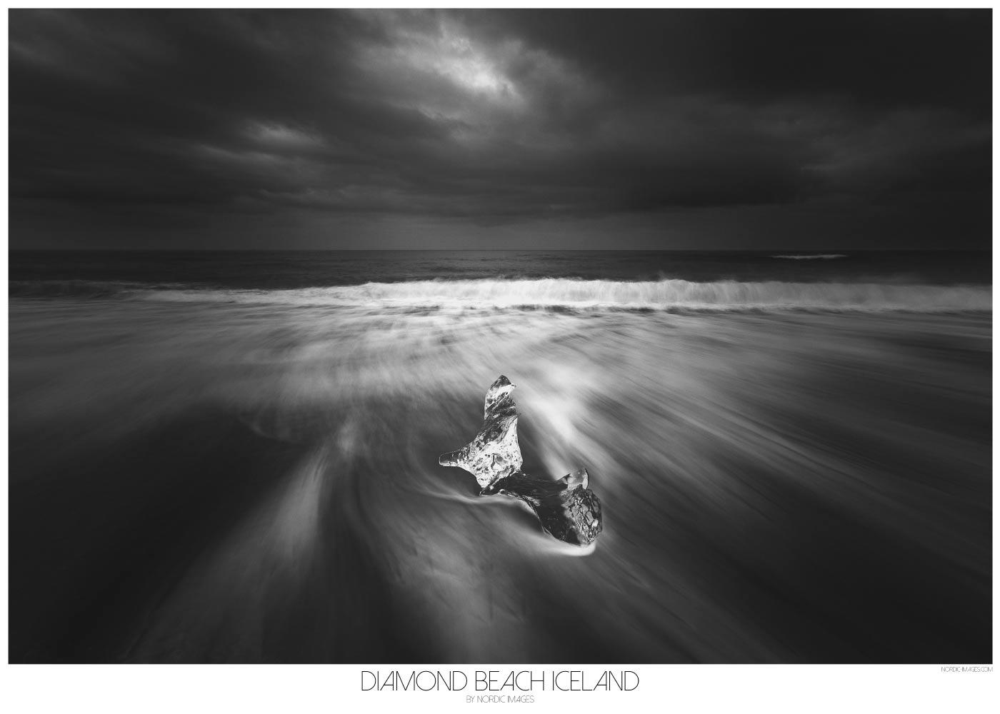 Diamond Beach Iceland - Brian Lichtenstein plakat
