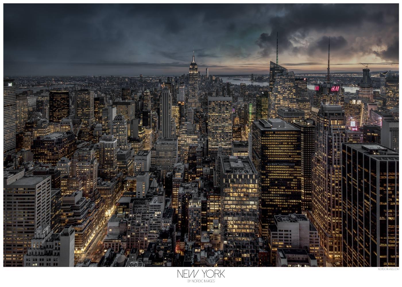 Billede af New York III - Brian Lichtenstein plakat